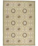 RugStudio presents Due Process Aubusson Bernay Ivory-Gold Flat-Woven Area Rug